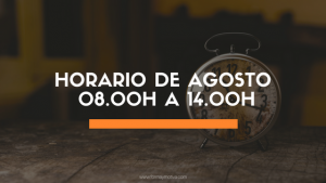 HORARIO MES DE AGOSTO